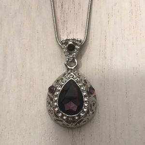 5/$25 purple stones/diamonds (costume) necklace
